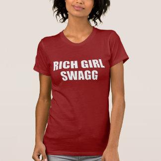 T-shirt rico de Swagg da menina Camiseta