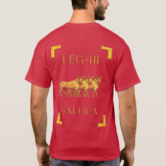 T-shirt romano de 3 Legio III Gallica Vexillum Camiseta