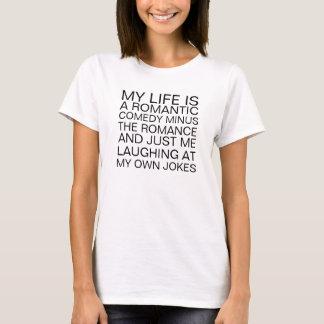 T-shirt romântico da comédia camiseta