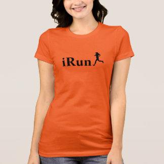 t-shirt Running alaranjado de Irún para mulheres