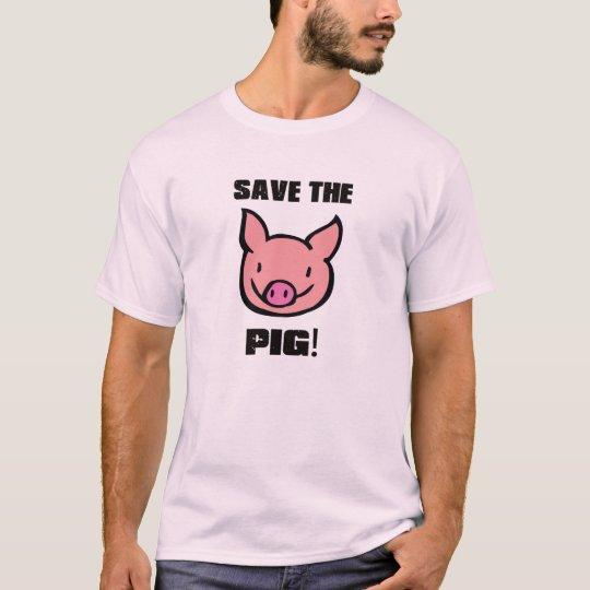 T-shirt SAVE THE PIG Camiseta