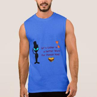 T-shirt sem mangas - chamada estrangeira da paz regata