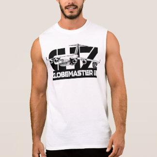 T-shirt sem mangas da camisa do C-17 Globemaster