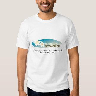 T-shirt simplesmente havaiano do logotipo