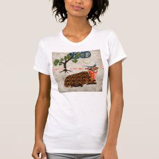 T-shirt sonhador da noite do Addax artística
