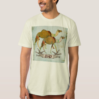 T-shirt sonhador do pai dos camelos
