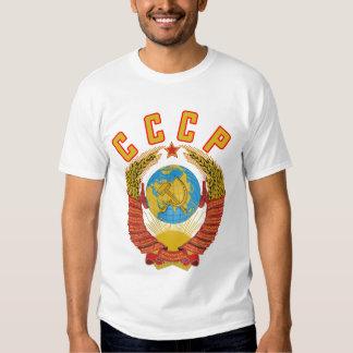 T-shirt soviético da brasão CCCP