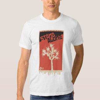 T-shirt sozinho do suporte