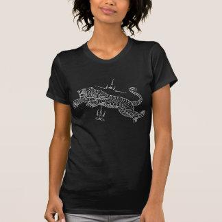 T-shirt tailandês da mantra do estilo do tigre