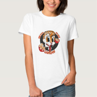 T-shirt tailandês do gato de Muay