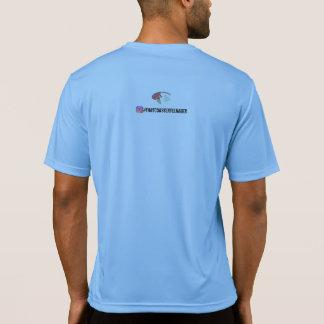 T-shirt traseiro do logotipo camiseta