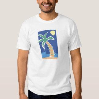 T-shirt tropicais da palmeira