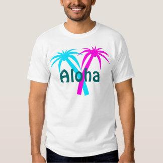 T-shirt tropical das palmeiras de Havaí