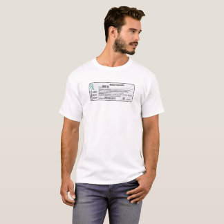 T-shirt turbulento do branco de OG Camiseta