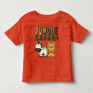T-shirt unisex da criança do safari de selva camiseta infantil