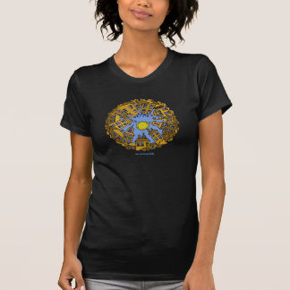 T-shirt urbano legal da arte gráfica da cidade do