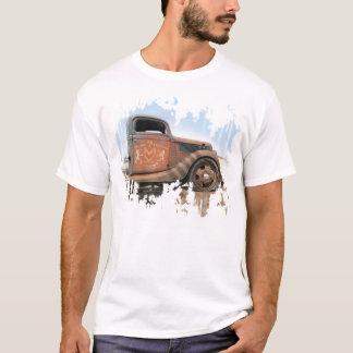 T-shirt velho do caminhão da loja do hot rod camiseta