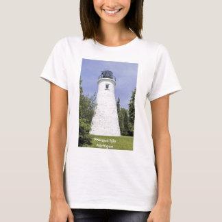 T-shirt velho do farol da ilha de Presque Camiseta