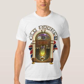 T-shirt velhos do balancim do jukebox