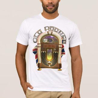 T-shirt velhos do balancim do jukebox camiseta
