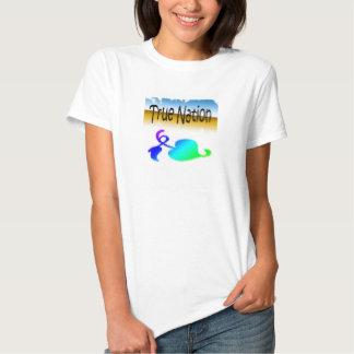 T-shirt verdadeiro do amor da nação