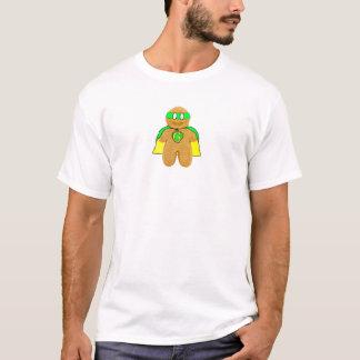 t-shirt verde & amarelo do super-herói do homem de camiseta