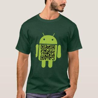 T-shirt verde do código do Android QR Camiseta