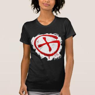 T-shirt vermelho do logotipo