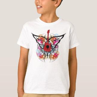 T-shirt voado da guitarra camiseta