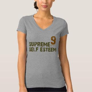 T supremo do V-pescoço do amor-próprio das Camisetas