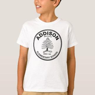 T unisex da juventude, logotipo preto camiseta
