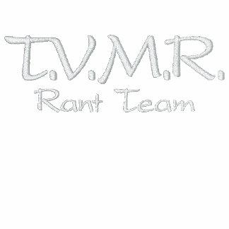 T.V.M.R., equipe do divertido Camiseta Bordada Polo