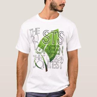 T verde da competição de Desgin do t-shirt do STS Camiseta