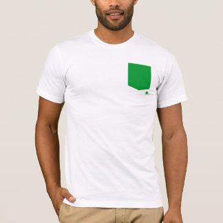 T verde do bolso camiseta