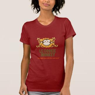 T vermelho do algodão com macaco t-shirt