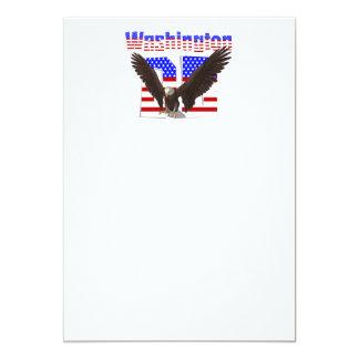 T Washington, C.C. Convite 12.7 X 17.78cm