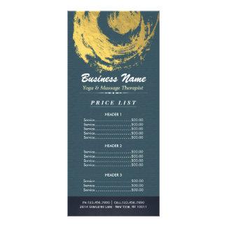 Tabela de preços azul do sinal do ZEN da terapia Panfleto
