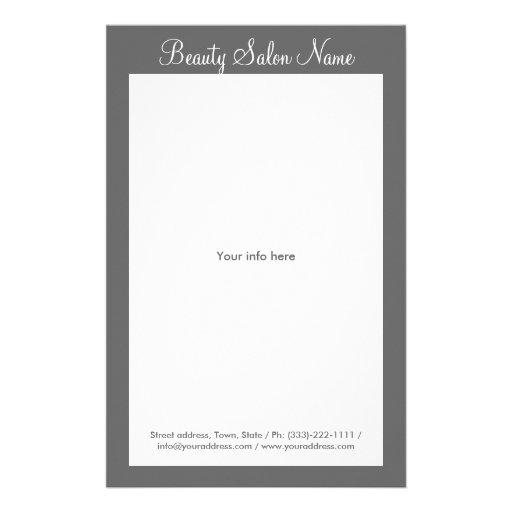 Tabela de preços cinzenta simples do cabeleireiro/ panfleto personalizados