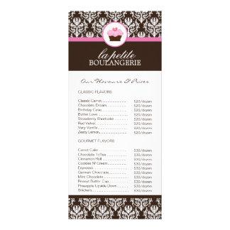 Tabela de preços da padaria planfetos informativos coloridos