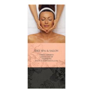 Tabela de preços da terapia da massagem dos termas 10.16 x 22.86cm panfleto