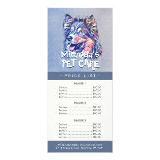 Tabela de preços de assento do salão de beleza da 10.16 x 22.86cm panfleto