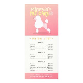 Tabela de preços de assento do salão de beleza da panfleto