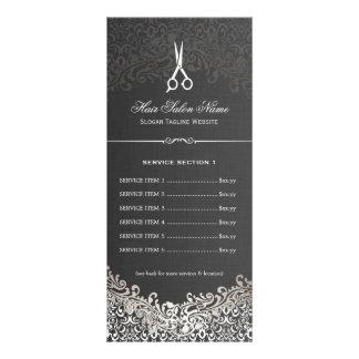 Tabela de preços de prata escura elegante do 10.16 x 22.86cm panfleto