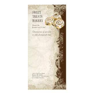 Tabela de preços do negócio - laço barroco do vint 10.16 x 22.86cm panfleto