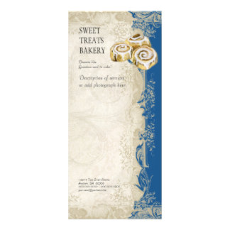 Tabela de preços do negócio - laço barroco do vint panfleto informativo personalizado