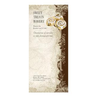 Tabela de preços do negócio - laço barroco do vint panfletos informativos personalizados