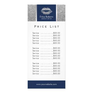 Tabela de preços do salão de beleza dos lábios do 10.16 x 22.86cm panfleto