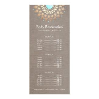 Tabela de preços do terapeuta da massagem de Lotus 10.16 X 22.86cm Panfleto