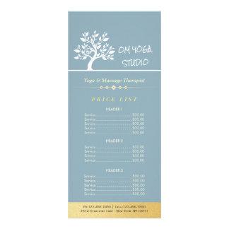 Tabela de preços elegante do treinador da vida do 10.16 x 22.86cm panfleto