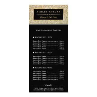 Tabela de preços Funky do encanto do brilho do 10.16 X 22.86cm Panfleto